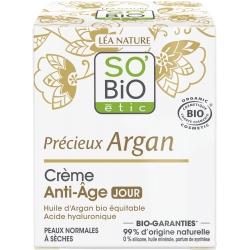 So'bio Crème de Jour anti âge Huile d'Argan Acide Hyaluronique  50ml produit de soin pour le visage Les Copines Bio