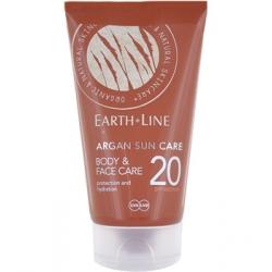Earth Line Crème solaire Argan visage et corps SPF20 protection moyenne 150ml qte_xls Soin Solaire bio Les Copines Bio