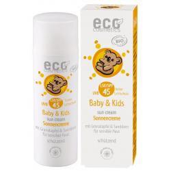 Eco Cosmetics Crème solaire Babysun LSF/SPF45 Grenade et Argousier 50ml Soin Solaire bio Les Copines Bio