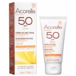 Acorelle Crème solaire visage SPF 50 bio 50ml qte_xls Soin Solaire bio Les Copines Bio