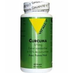 Vit'all + Curcuma + Poivre noir 570mg 60 Vcaps complément alimentaire Les Copines Bio