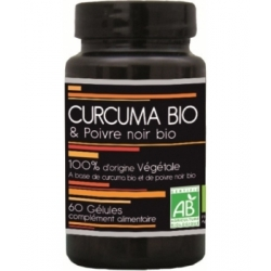 Aquasilice Curcuma Bio et Poivre Noir Bio 60 gélules complément alimentaire Les Copines Bio