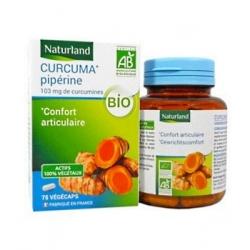 Naturland Curcuma Pipérine bio 75 Gélules Végécaps complément alimentaire Les Copines Bio