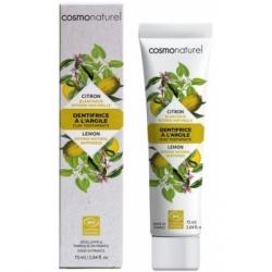 Cosmo Naturel Dentifrice Citron blanchissant  75ml produit d'hygiène pour les dents Les Copines Bio