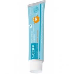 Cattier Dentifrice enfants 7ans et + protection fluor goût orange  50ml produit d'hygiène pour les dents Les Copines Bio
