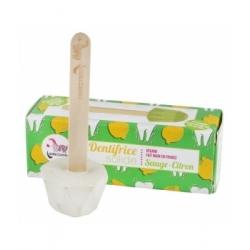 Lamazuna Dentifrice solide Sauge Citron 17.0gr produit d'hygiène bucco-dentaire Les Copines Bio