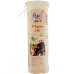Bel Nature Disques à démaquiller coton bio motif fleur et bords cousu 70 unités produit de nettoyage pour le visage Les Copines