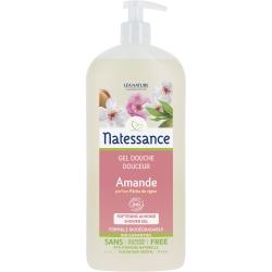 Natessance Douche crème Amande parfum Pêche de vigne Sans Sulfates  1L produit d'hygiène pour le corps Les Copines Bio