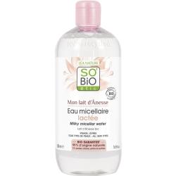 So'Bio étic Eau Micellaire lactée Mon lait d'ânesse 500ml produit de nettoyage pour le visage Les Copines Bio