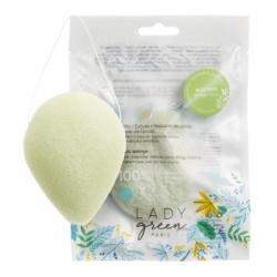 Lady Green Eponge Konjac Merveilleuse Aloé Vera Hydratante et régénérante Goutte 1 unité produit accessoire de soin Les Copines