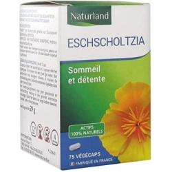 Naturland Escholtzia Escholtzia californica 75 gélules végétales complément alimentaire bien-être Les Copines Bio