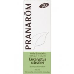 Pranarôm Eucalyptus citronné Bio Flacon compte gouttes 10ml produit d'aromathérapie bio Les Copines Bio