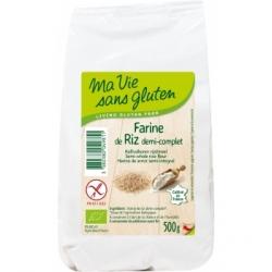 Ma vie sans Gluten Farine riz demi complet sans gluten  500g produit d'alimentation Les Copines Bio