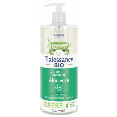 Natessance Gel douche Aloe véra ressourçant Sans Sulfates  1L produit d'hygiène pour le corps Les Copines Bio