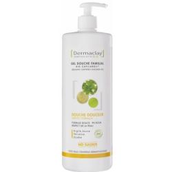 Dermaclay  Gel douche Douceur familial Hydratant Relaxant 1L produit de nettoyage pour le corps Les Copines Bio