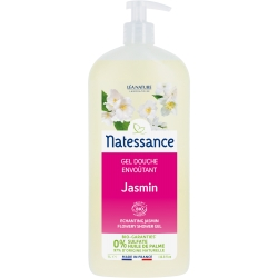 Natessance Gel douche Jasmin floral Sans Sulfates  1L produit d'hygiène pour le corps Les Copines Bio