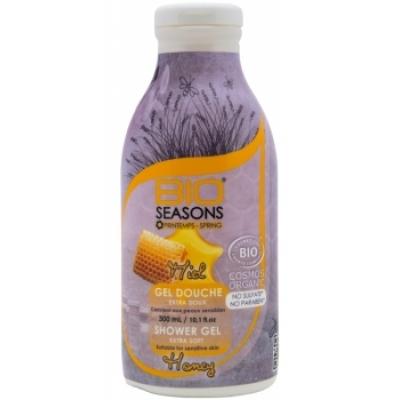 Bio Seasons Gel douche Miel  300ml produit d'hygiène pour le corps Les Copines Bio