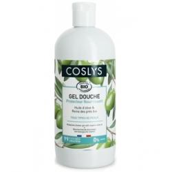 Coslys Gel douche protecteur nourrissant à l'huile d'olive 500ml produit d'hygiène pour la douche et le bain Les Copines Bio