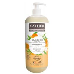 Cattier Gel douche relaxant Fleur d'Oranger Tilleul  1L produit d'hygiène pour le corps Les Copines Bio