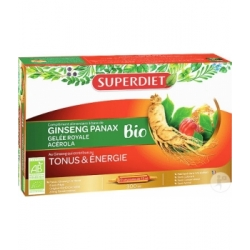 Super Diet Ginseng Acérola Gelée Royale Bio 20 ampoules de 15ml complément alimentaire Les Copines Bio