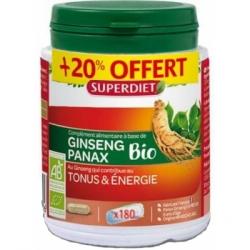 Super Diet Ginseng Panax Bio 150 gélules plus 30 gélules Offertes Complément alimentaire Les Copines Bio