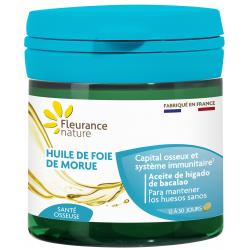 Fleurance Nature Huile de foie de morue 50 capsules Complément alimentaire Santé Les Copines Bio