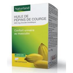 Naturland Huile de Pépins de Courge bio 90 capsules Complément alimentaire Les Copines Bio