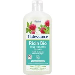 Natessance Huile de Ricin bio Cheveux et Ongles 250ml produit de soin pour le corps et le visage Les Copines Bio