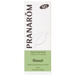 Pranarôm Huile essentielle de Niaouli Bio Flacon compte gouttes 10ml complément alimentaire d'aromathérapie Les Copines Bio