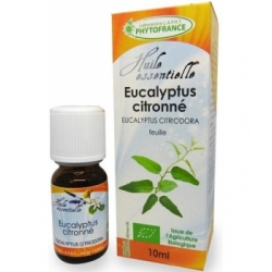 Phytofrance Huile essentielle Eucalyptus Citronné feuille Bio 10ml produit d'aromathérapie bio Les Copines Bio