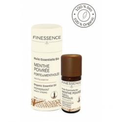 Finessence Huile Essentielle Menthe poivrée forte et mentholée bio 10ml produit d'aromathérapie Les Copines Bio