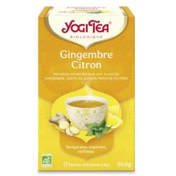 Yogi Tea Infusion Gingembre Citron 17 unités produit d'alimentation Les Copines Bio