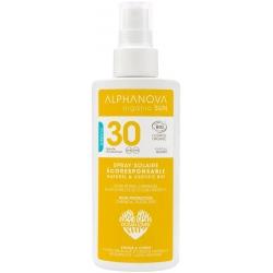 Alphanova Lait solaire haute protection SPF 30 Parfum Monoï  125ml produit de soin solaire Les Copines Bio