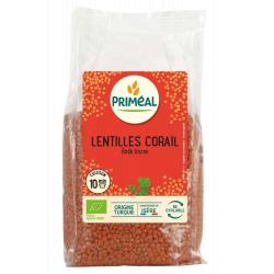 Primeal Lentilles corail  500g produit d'alimentation Les Copines Bio