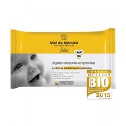 Comptoirs et Compagnies Lingettes nettoyantes et apaisantes au Miel de Manuka IAA10 40 lingettes produit de soin pour le visage