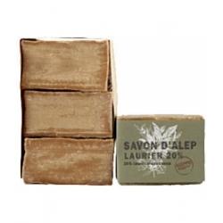 Tade Lot Savon d'Alep Laurier 20% Aleppo Soap   3 unités produit d'hygiène pour le corps Les Copines Bio