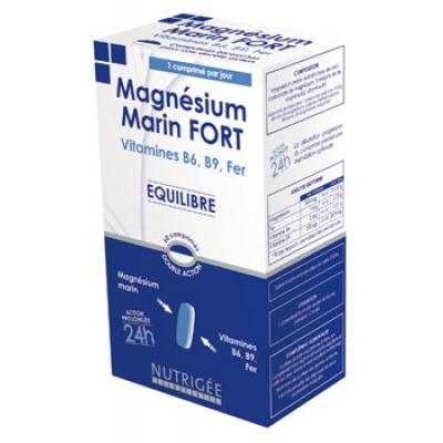 Nutrigee Magnésium Marin Fort, B6, B9, Fer comprimés bi couche 30 unités complément alimentaire Les Copines Bio