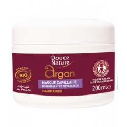 Douce Nature Masque capillaire à l'Argan  200ml produit de soin pour les cheveux Les Copines Bio