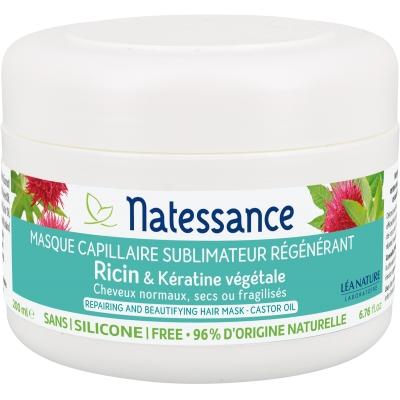 Natessance Masque Capillaire Ricin et Kératine végétale  200ml produit de soin pour les cheveux Les Copines Bio