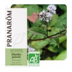 Pranarôm Menthe poivrée Bio Flacon compte gouttes 10ml produit d'aromathérapie Les Copines Bio