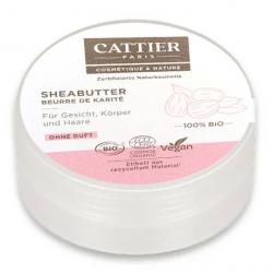 Cattier Mini Beurre de karité bio  20ml produit de soin pour le visage Les Copines Bio