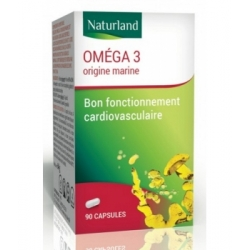 Naturland Omega 3 90 capsules complément alimentaire Les Copines Bio