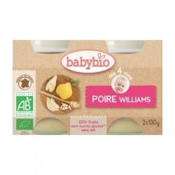 Babybio Petits pots Poires Williams dès 4 mois  260g produit d'alimentation bio pour bébé Les Copines Bio
