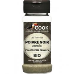 Cook Poivre noir en poudre 45g 0.045 gr produit alimentaire - condiment Les Copines Bio