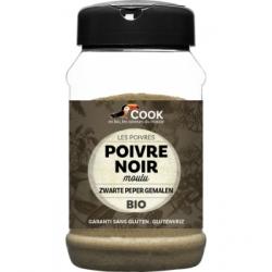 Cook Poivre noir moulu 220g 0.220 gr produit alimentaire - condiment Les Copines Bio
