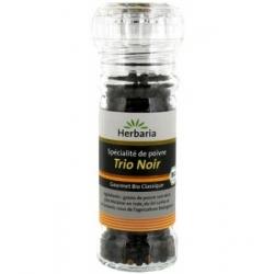 Herbaria Poivre Trio noir en moulin 50g 0.100 gr produit alimentaire - condiment Les Copines Bio
