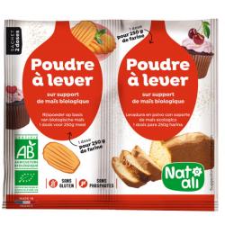 Natali Poudre à lever  2 x 7g produit d'alimentation Les Copines Bio
