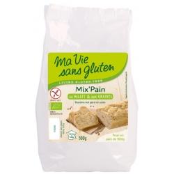 Ma vie sans gluten Préparation pour pain au Millet et aux Graines sans Gluten  500g produit d'alimentation bio Les Copines Bio