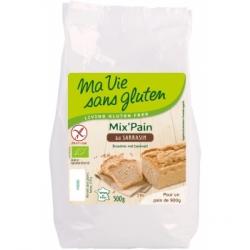 Ma vie sans gluten Préparation pour pain au Sarrasin sans Gluten  500g produit d'alimentation Les Copines Bio