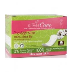 Silvercare Protèges slips 100% coton bio, Anatomiques Emballage individuel, boîte de 24 24 unités produit d'hygiène féminine Les